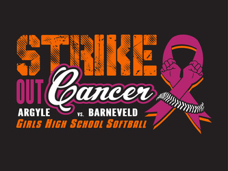 Baseball & Softball Cancer Awareness Designs artwork category