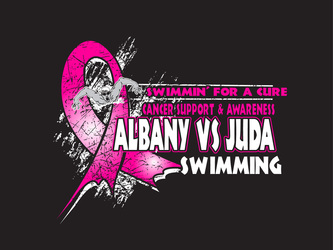 Swimming Cancer Awareness Designs artwork category