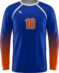 Long Sleeve Crew Neck Goalie Jersey with Design