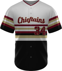 Lite Sublimated Full Button Baseball Jersey with Design