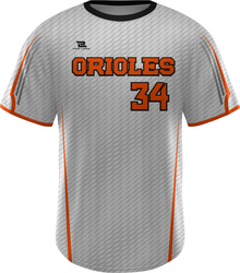 Lite Sublimated Crew Neck Baseball Jersey with Design