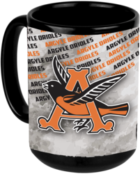 Black Sublimated Ceramic Banner Mug with Design