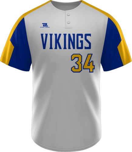 Lite Sublimated Quick-Turn 2 Button Baseball Jersey