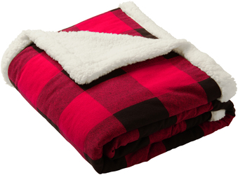 Port Authority Flannel Sherpa Blanket