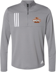 Adidas 3-Stripes Double Knit 1/4-Zip Pullover with Design