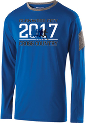 electron long sleeve performance tee with design