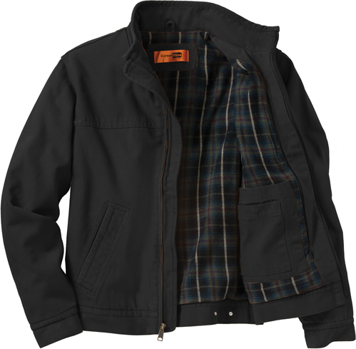 Flannel-Lined Jacket with Design
