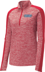 Ladies Electric 1/4-Zip Pullover with Design
