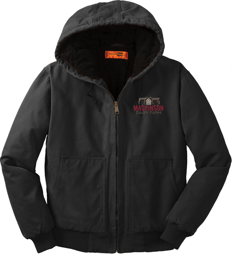 Insulated Hooded Jacket with Design