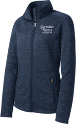 Ladies Digi Stripe Fleece Jacket with Design