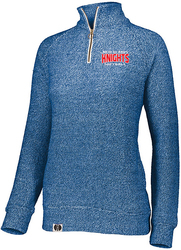 Ladies Cuddly 1/4 Zip Pullover with Design