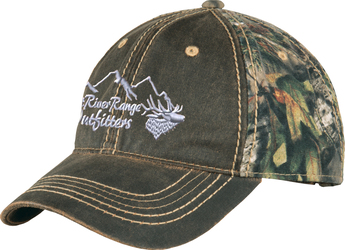 Pigment Print Camo Cap with Design
