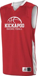 Single Ply Reversible Basketball Jersey with Design
