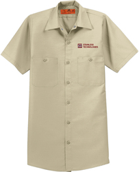 Short Sleeve Industrail Work Shirt with Design