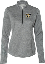 Women's Brushed Heather 1/4-Zip Pullover with Design