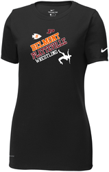 Ladies Nike Dri-FIT Cotton/Poly Scoop Neck Tee with Design