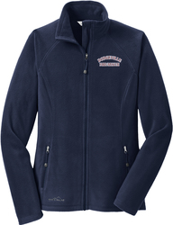 Ladies Eddie Bauer Full-Zip Microfleece Jacket with Design