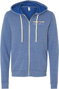 Triblend Fleece Full-Zip Hooded Sweatshirt with Design