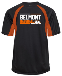 Black/Orange Hook T-shirt with design