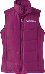 Ladies Puffy Vest with Design