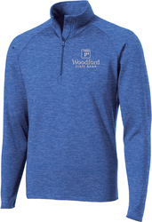 Stretch 1/2-Zip Pullover with Design
