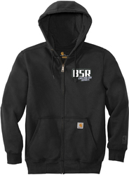 Paxton Heavyweight Hooded Zip-Front Sweatshirt with Design