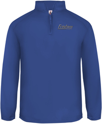 Poly Fleece 1/4-Zip Pullover with Design