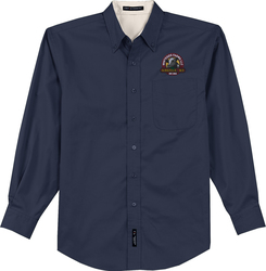 Long Sleeve Easy Care Button Up Shirt with Design