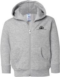 Full-Zip Fleece Hooded Sweatshirt with Design