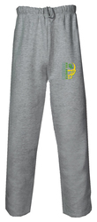 Badger Open Bottom Sweatpants with Design