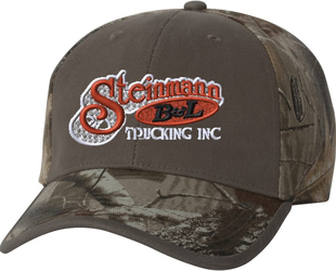 Solid Front Camo Cap with Design