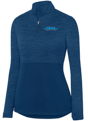 Ladies Shadow Tonal Heather 1/4 Zip Pullover with Design