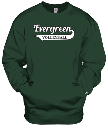 pocket crew sweatshirt with design