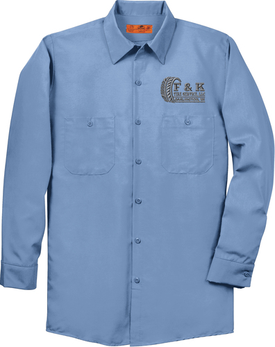 Long Sleeve Industrial Work Shirt with Design