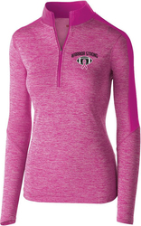 ladies electrify 1/2 zip pullover with design