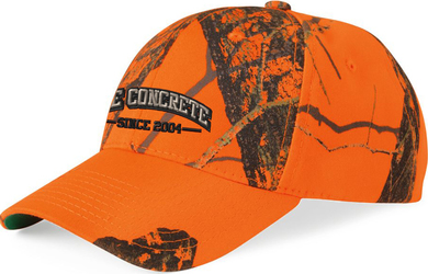 Classic Camo Twill Cap with Design