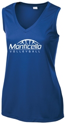 Ladies Sleeveless Performance Tee with Design