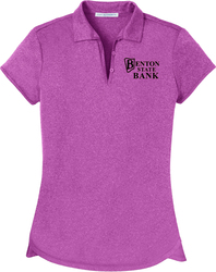 Ladies Trace Heather Sport Shirt with Design