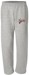 Open Bottom Pocket Sweatpants with Design