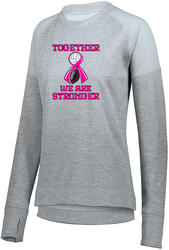Ladies Zoe Tonal Heather Crew Sweatshirt with Design