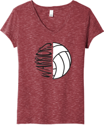Women's Medal V-Neck T-Shirt with Design