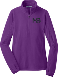 Ladies 1/2-Zip Microfleece Pullover with Design