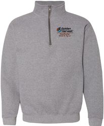 Cadet Collar 1/4-Zip Sweatshirt with Design