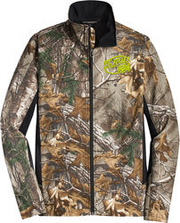 Camo Colorblock Soft Shell with Design