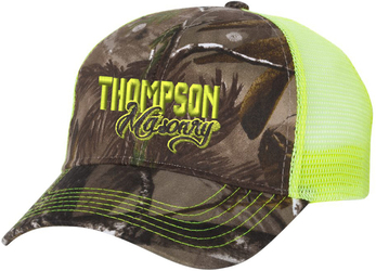 Camo Mesh Back Hat with Design
