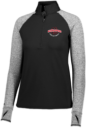 ladies axis 1/2 zip pullover with design