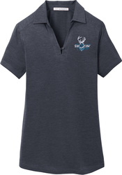 Ladies Digi Heather Performance Sport Shirt with Design