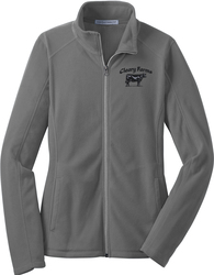 Ladies Full Zip Microfleece Jacket with Design