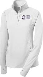 Ladies Stretch 1/2-Zip Pullover with Design