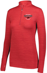 Ladies Striated 1/4 Zip Pullover with Design